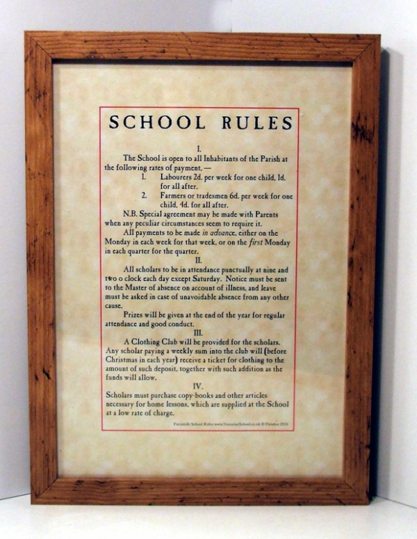 a victorian classroom the rules for dating
